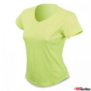 Camiseta dry & fresh negra para mujer personalizada