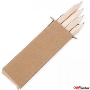 Cajita con lápices de colores publicitarias