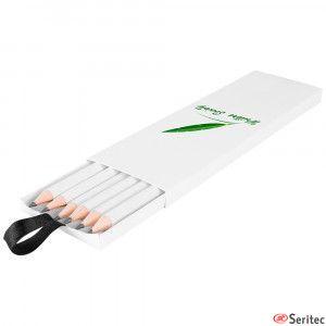 Set de 6 lápices FSC publicitario