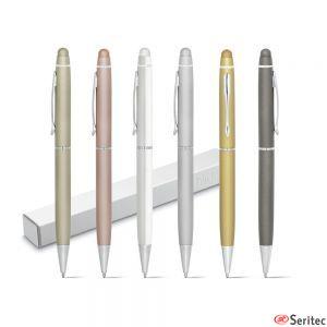 Bolígrafos publicitarios metálico con puntero táctil