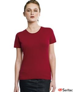 Camiseta básica mujer manga corta en varios colores personalizable