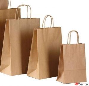 Bolsas de papel kraft personalizadas baratas.