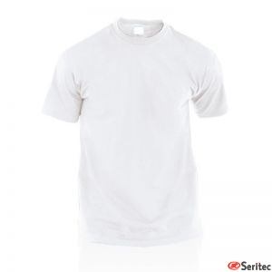 Camiseta Blanca Alg.135 gr. Adulto. Personalizada.