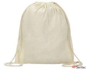 Mochila de algodón orgánico publicitaria