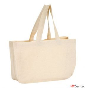 Bolsa algodón natural publicitaria