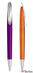 Bolígrafo de plástico metalizado eco