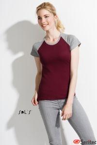 Camiseta personalizable Mujer Bicolor Manga Reglán