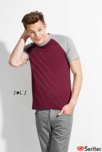 Camiseta personalizable Hombre Bicolor Manga Reglán