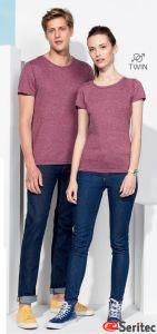Camiseta personalizable manga corta disponible corte de mujer y hombre en varios colores