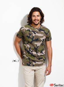 Camiseta personalizable Camuflaje Hombre Manga Corta Cuello Redondo