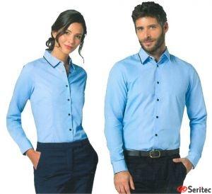 Camisa Personalizable para Mujer y Hombre Manga Larga Polialgodón