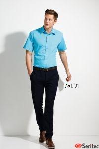 Camisa Popelín Personalizable Hombre Manga Corta