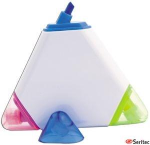 Marcador de publicidad con tres colores