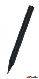 Lápiz publicitario mini madera negra sin goma triangular negro