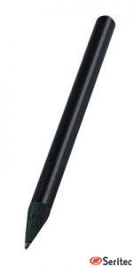 Lápiz publicitario mini madera negra sin goma redondo negro