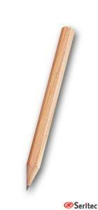 Lápiz publicitario mini madera sin goma hexagonal natural