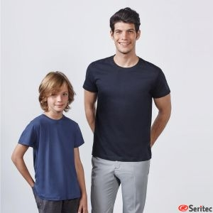 Camiseta blanco niño personalizada manga corta