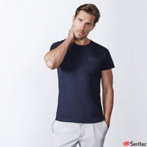 Camiseta blanco hombre personalizada manga corta