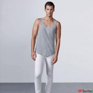 Camiseta hombre personalizada tirantes con sisa baja