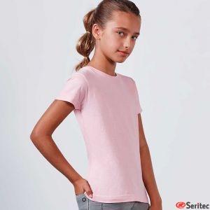Camiseta blanco niña personalizada manga corta