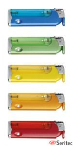 Mecheros publicitarios en colores surtidos con linterna