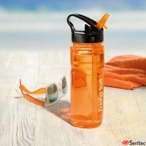Botella de Tritan sin BPA publicitaria con pajita