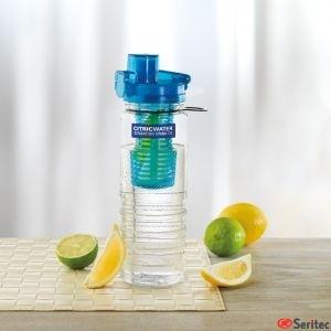 Botella de Tritan personalizable sin BPA con compartimento interior para fruta