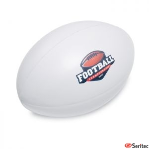 Pelota de rugby anti-stress de PU publicitario