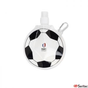 Botellín plegable publicitario 500 ml con forma de balón de fútbol