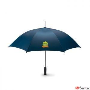 Paraguas unicolor antiviento publicitario de apertura automática en poliester