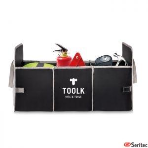 Organizador plegable para coche publicitario en poliéster