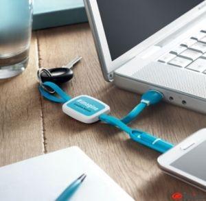 Llavero USB tipo C y microUSB publicitario