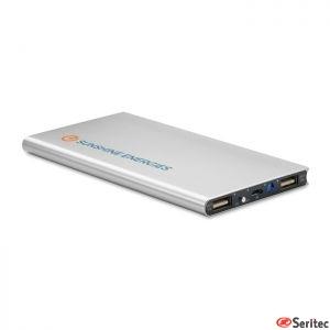 Powerbank solar de aluminio publicitaria 8000 mAh