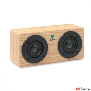 Altavoz Bluetooth 2x3W 400 mAh publicitario con amplificador