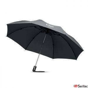 Paraguas plegable y reversible publicitario de 23