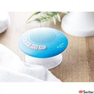 Altavoz de baño publicitario Bluetooth con ventosa