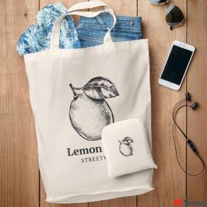 Bolsa plegable de algodón personalizable