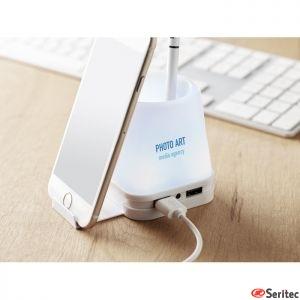 Portabolis con hub USB publicitario