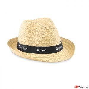 Sombrero de paja publicitario