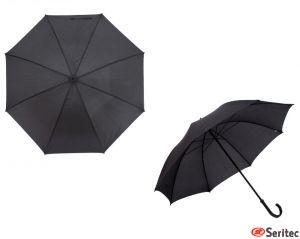 Paraguas negro publicitario