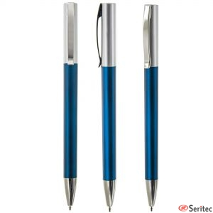Bolígrafo básico personalizado metalizado