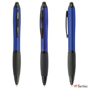 Bolígrafo con touch acabado metalizado