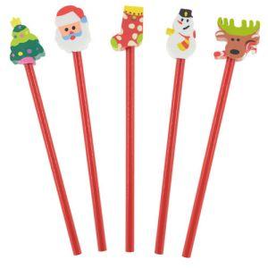 Lápices con formas Christmast navidad publicitarios / pack 5 uds