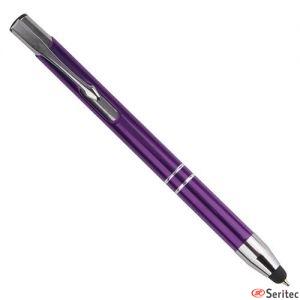 Bolígrafo metálico con puntero