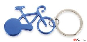 Llavero con forma bicicleta pulicitario