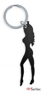 Llavero silueta mujer personalizado