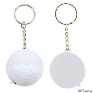 Llavero y metro con forma pelota golf publicitario