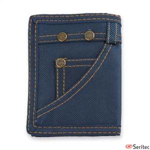 Cartera estilo jean personalizada