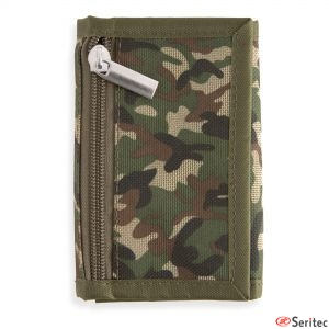 Monedero camuflaje militar personalizado