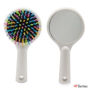 Cepillo de pelo con espejo personalizado